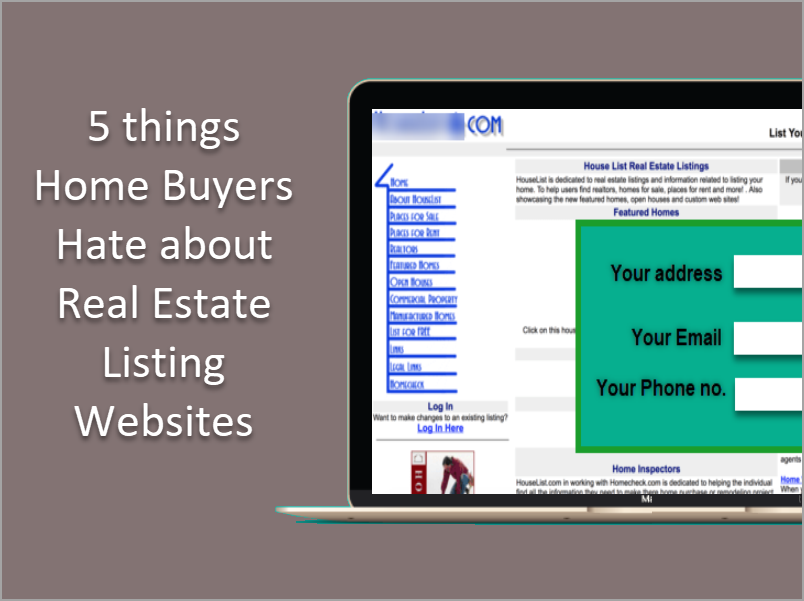 5 things home buyers hate about real estate listing website